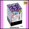 Звезда 1138 Набор фиолетовых игровых кубиков D6 (36шт)