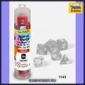 Звезда 1143 Набор красных игровых кубиков для ролевых игр (7шт)