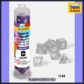 Звезда 1146 Набор фиолетовых игровых кубиков для ролевых игр (7шт)