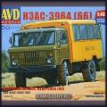 1:43 AVD Models 1383 Вахтовый автобус НЗАС-3964 (66)