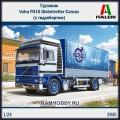1:24 Italeri 3945 Грузовик Volvo FH16 Globetrotter Canvas (с гидробортом)