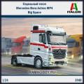 1:24 Italeri 3948 Седельный тягач Mercedes-Benz Actros MP4 Big Space